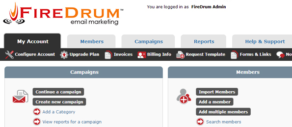 A display of your FireDrum Internet Marketing dashboard